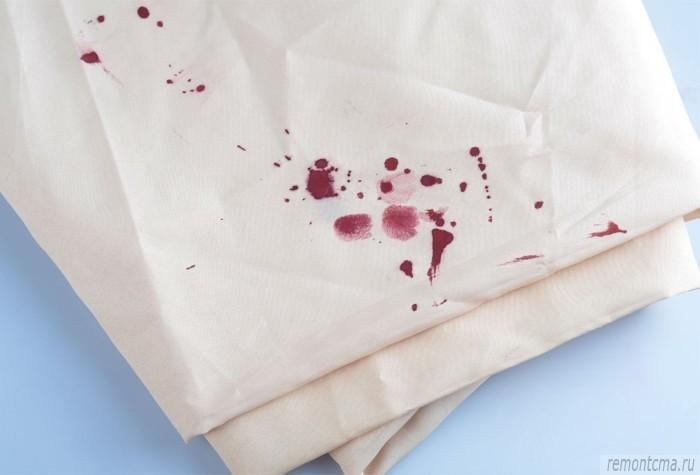 отстирать кровь