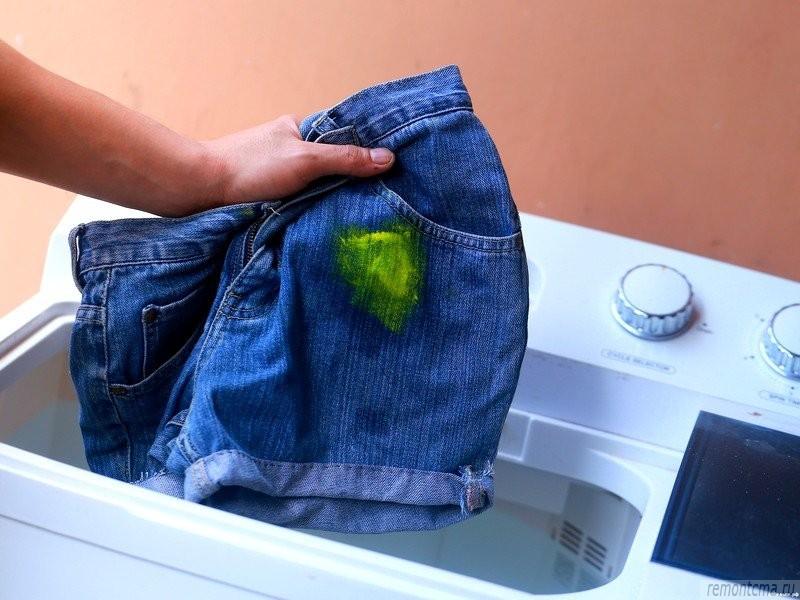 Как отстирать или убрать краску с одежды в домашних условиях