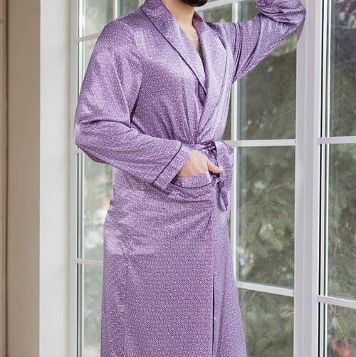 халат из искусственного шёлка