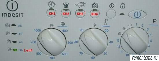 используемые кнопки