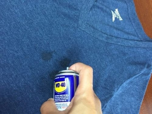 мазут на джинсе