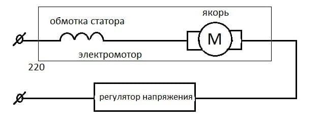 схема через регулятор