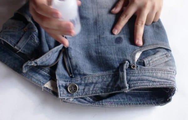 вывести краску с джинс