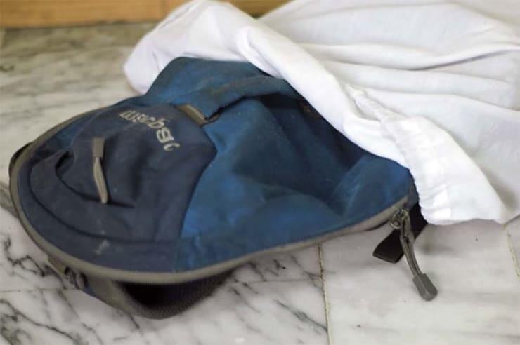 рюкзак в чехле для стирки