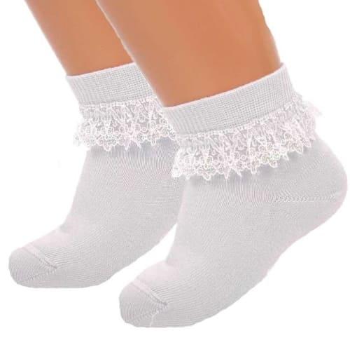 носки с кружевами