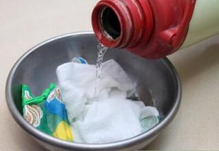 Стирка и отбеливание кухонных полотенец с помощью растительного масла