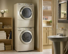 Установка сушильной машины на стиральную машину в колонну