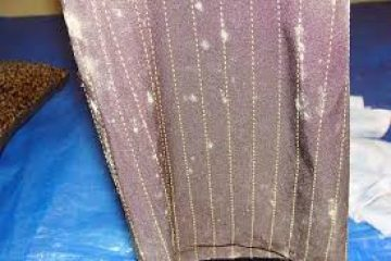 грибок на ткани