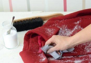 очистка от пятен на пальто